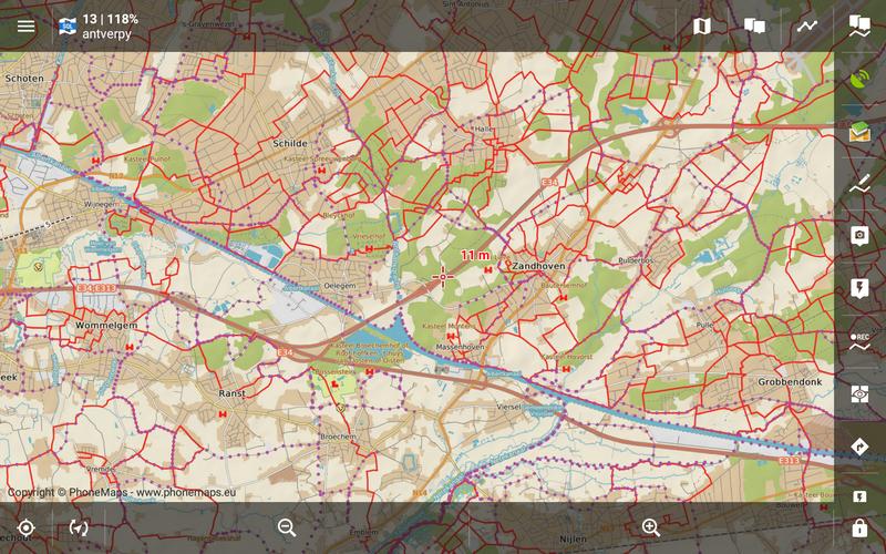 Mapa Freytag-Berndt, cyklostezky v okolí Antverp