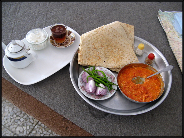 A typical Iranian breakfast