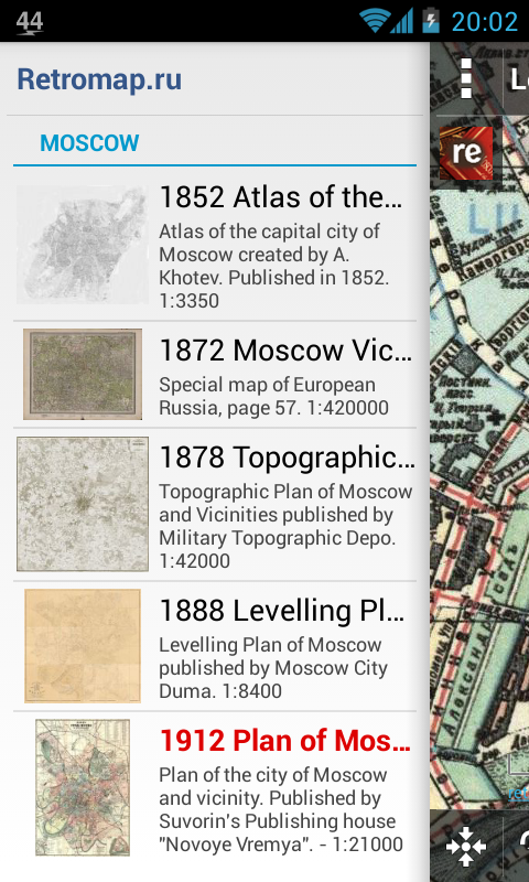 Screenshot of Retromap