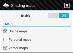 Settings shading maps