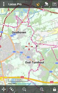 Offline vector maps Belgium