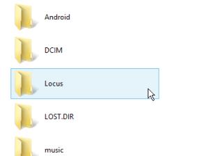 Rename Locus folder on SDcard