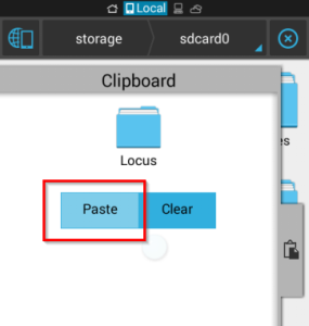 Paste Locus folder on internal storage