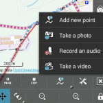 Track recording with images, vidoe, voice