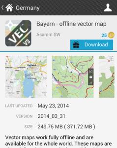 Germany Bayern map
