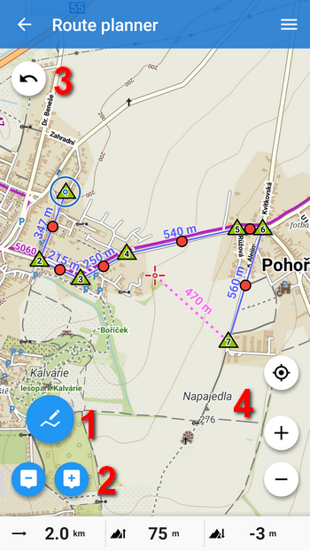 New handy Route Planner and simple Track Editor in Locus Map
