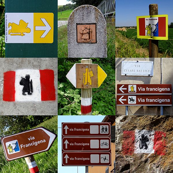 Via Francigena signposts