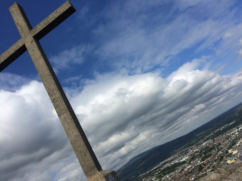 Cross at top of Bray Head