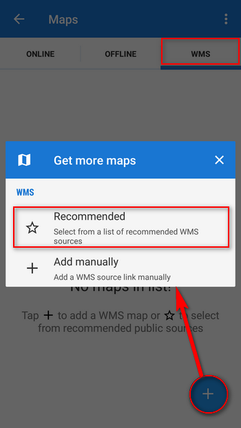 Choosing Recommended WMS Channels