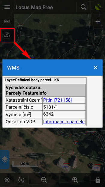 WMS layer is active and carries more information