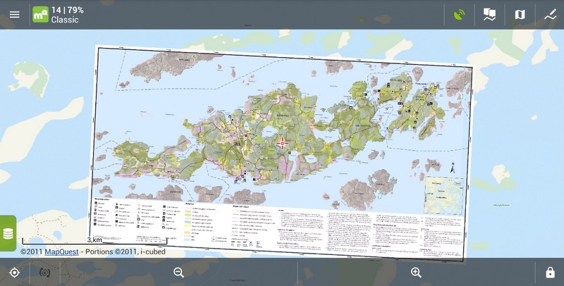How to get the picture of map from a tourist guide into Locus?Locus