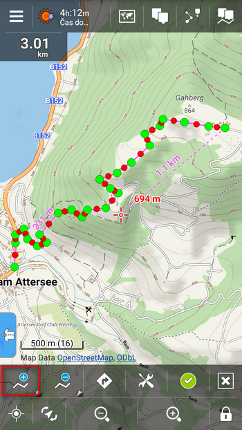 Have you tried engine-isted route drawing?Locus Draw A Map Route on