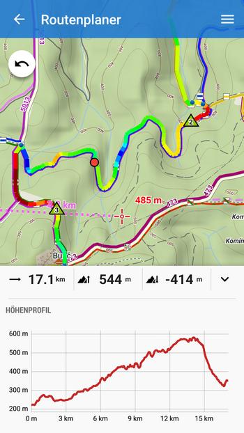 Höhenprofil zur einfachen und kontextbezogenen Routenplanung