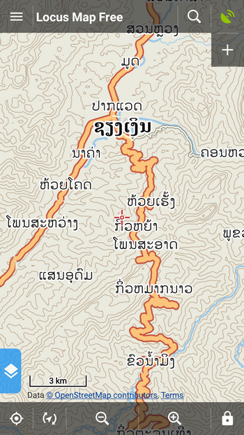 Laos map - original