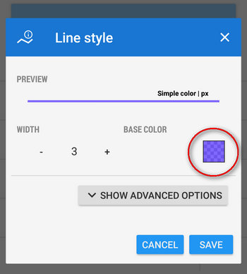 line color settings