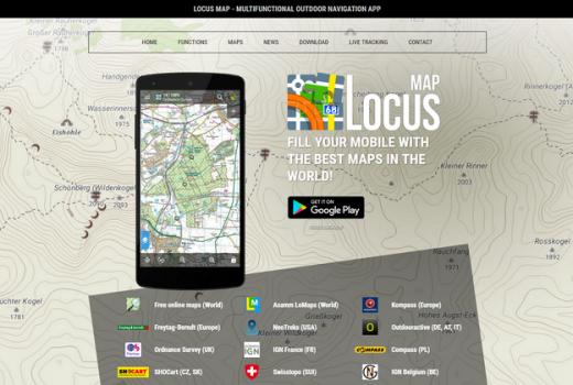 Locus Premium Maps page