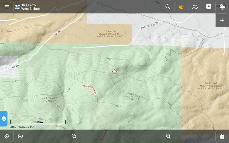 NeoTreks Maps Essential For Hiking In The USLocus - Park and forest land us map