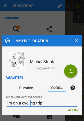 My Live location start