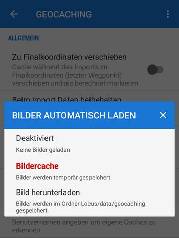 Three options of auto image loading