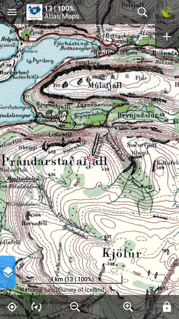 Atlaskort maps of Iceland