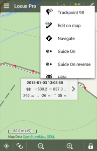 Edit point of track on map