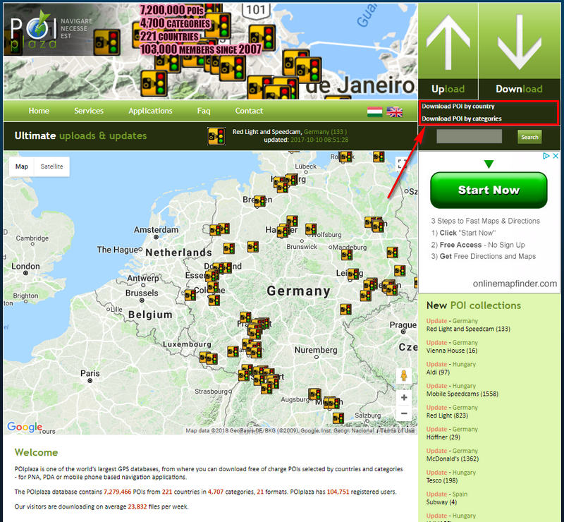 Download Map on