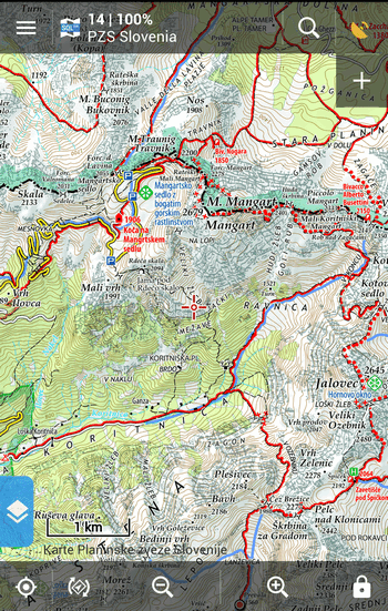 PZS maps of Slovenia