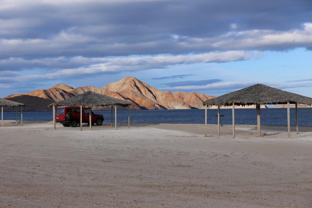 Schöner Schlafplatz an der Ostküste der Baja California, Mexiko