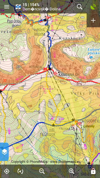 SHOCart map of Low Tatras